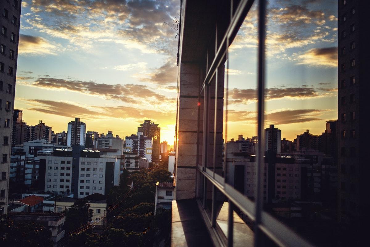 Sunset over Belo Horizonte Brazil